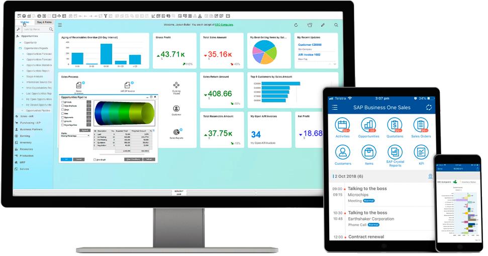 Captura de SAP Business One, software ERP on-premise o en la nube para pequeñas empresas